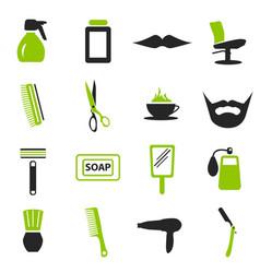 Barbershop icons set vector
