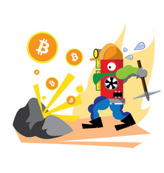 bitcoin red vector image vector image