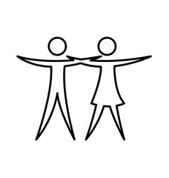 couple figure silhouette icon vector image