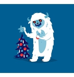 Cute yeti biigfoot monster set vector