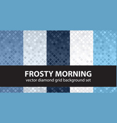 Diamond pattern set frosty morning seamless vector