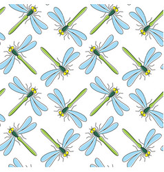 dragonfly seamless pattern for textile design vector image vector image