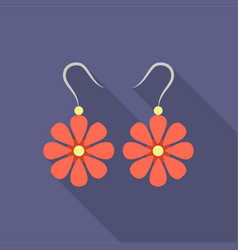 Earrings icon of for web and vector