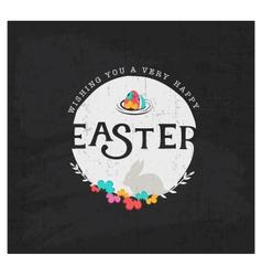 Easter Greeting Card Design Element vector image