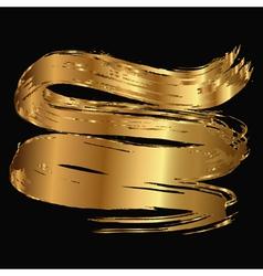 Gold smear vector