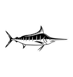 Graphic marlin vector