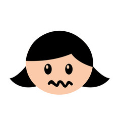 head girl angry expression vector image vector image