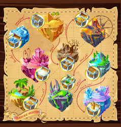 isometric game levels map background vector image vector image