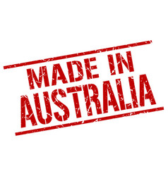 made in australia stamp vector image vector image