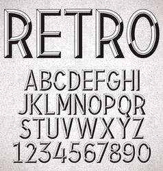 Metal embossed font vector