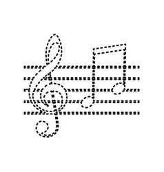 music violin clef sign g-clef and notes g h vector image vector image