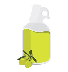 Olive oil bottle vector image vector image