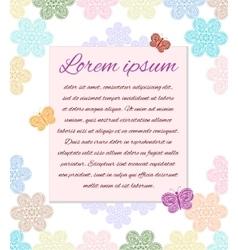 Pastel ornament postcard vector image