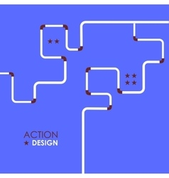 Pipe fitting set Pipeline vector image