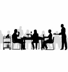 Restaurant scene vector