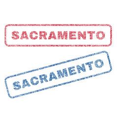 Sacramento textile stamps vector