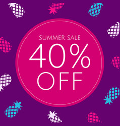 Sale poster with pineapple vector