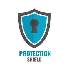 shield security icon protection logo shield vector image