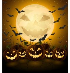 Spooky Halloween Night vector image
