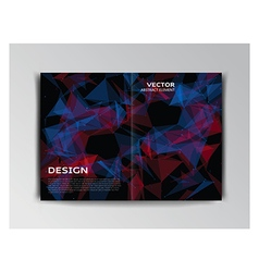 Template of brochure with abstract elements vector