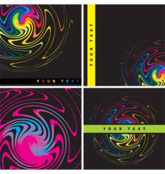 varicoloured backgrounds vector image vector image