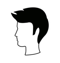 Young boy person portrait head male vector