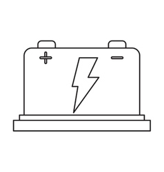 Car battery high voltage mechanic pictogram vector