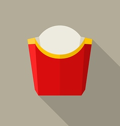 Empty packaging for french fries vector