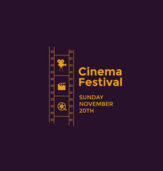 Cinema festival emblem vector