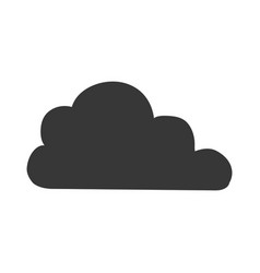 cloud weather pictogram vector image