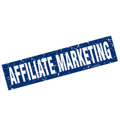 Square grunge blue affiliate marketing stamp vector