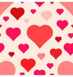 Abstract seamless hearts pattern vector