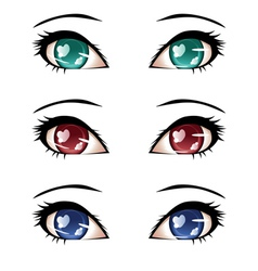 Stylized eyes vector