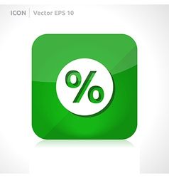 Sale percent icon vector