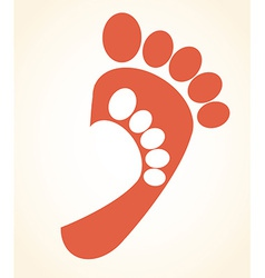 Footprint design vector