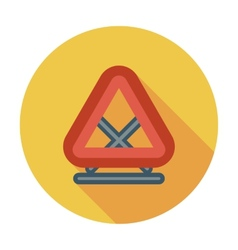 Warning triangle single flat icon vector