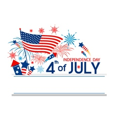 4 of july independence day vector image vector image