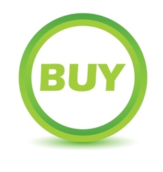 Green buy icon vector