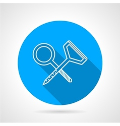 Blue icon for climbing screw hooks vector