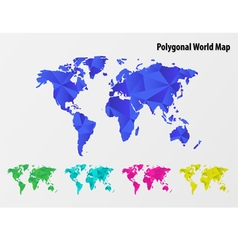 Polygonal mosaic World Map vector image