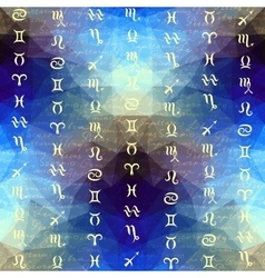 Original inscriptions of zodiacs names and zodiac vector
