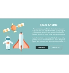 Space shuttle and astronomy web page vector