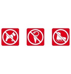 no dogs no ice cream no rollers vector image