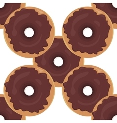 Donut seamless background texture pattern vector