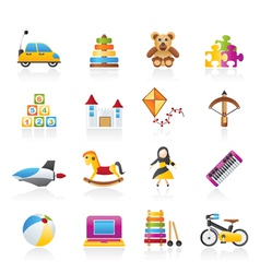 Different kind of toys icons vector