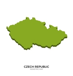 Isometric map of czech republic detailed vector
