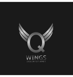 Wings q letter logo vector