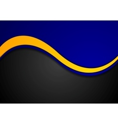 Abstract contrast colors wavy background vector