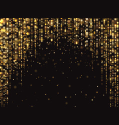 Abstract gold glitter lights background vector