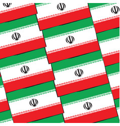 Abstract iran flag or banner vector